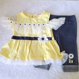 24m little lass blouse and leggings set